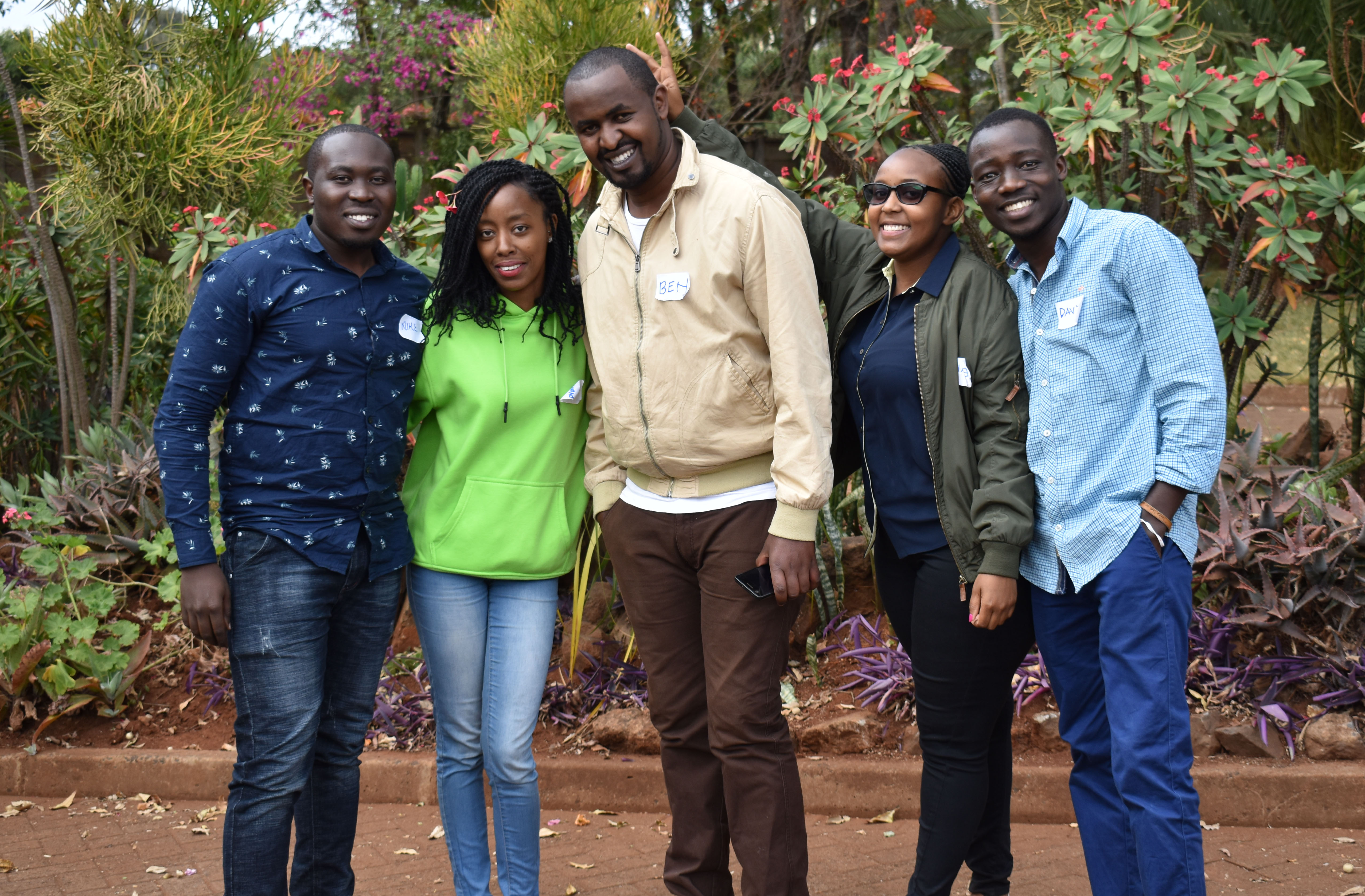 Group picture of champions in Nairobi
