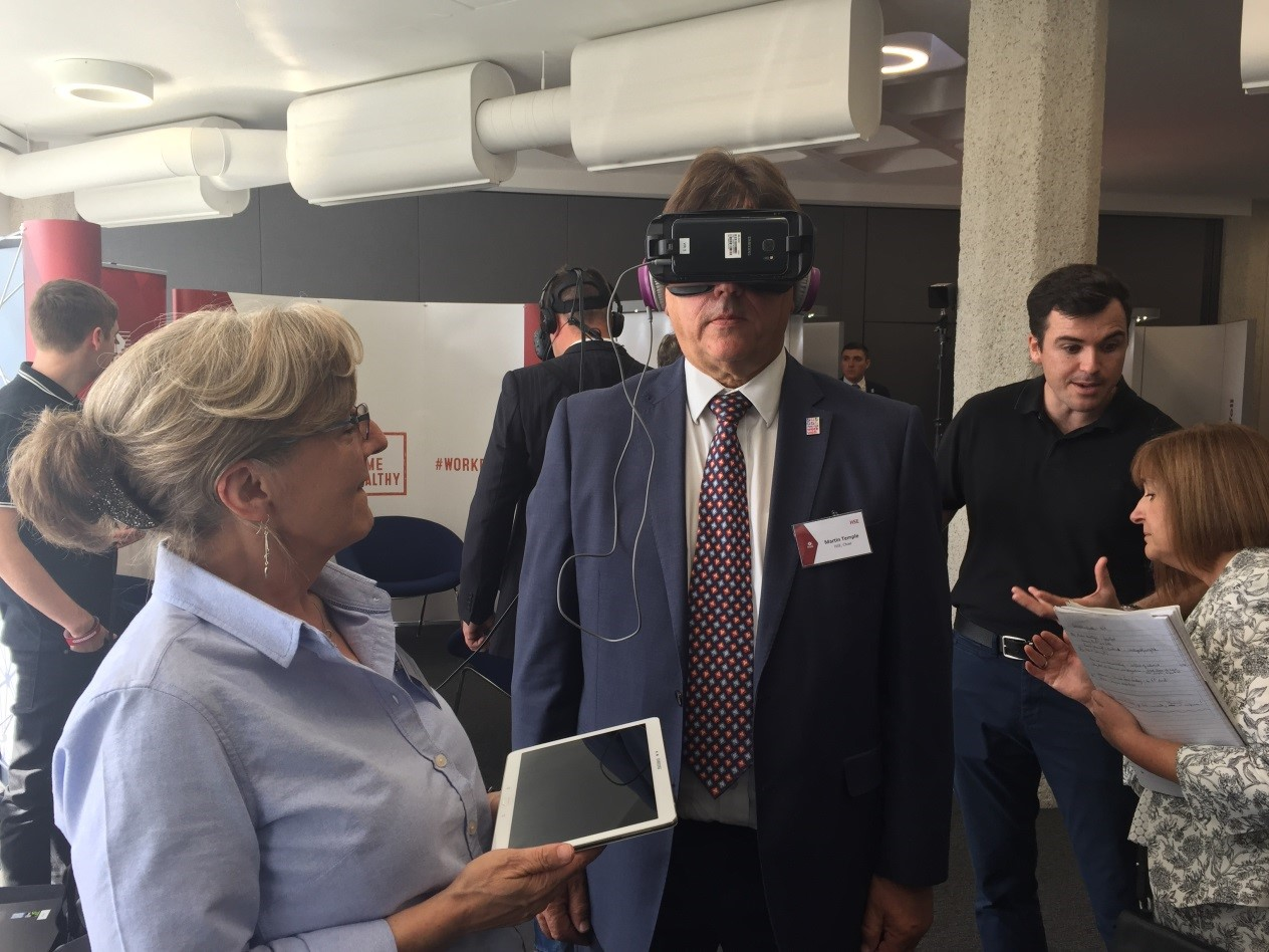 Thames Water demonstrating their VR programme