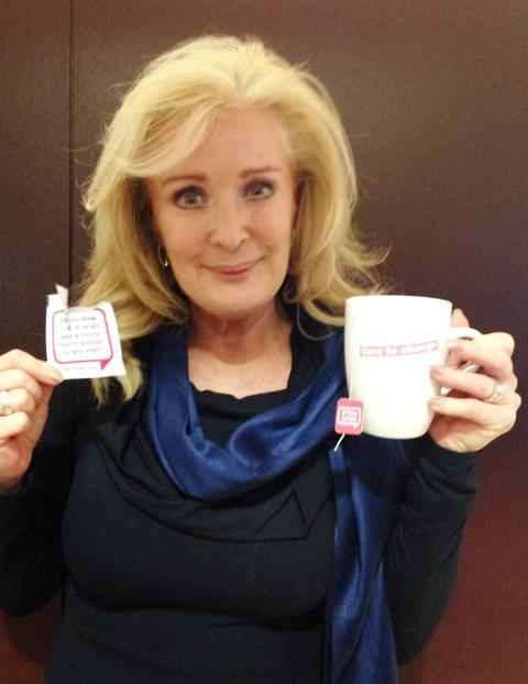Beverley Callard supports Time to Change