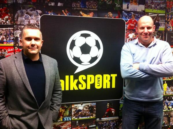 Tim and Matt at TalkSport with Stan Collymore