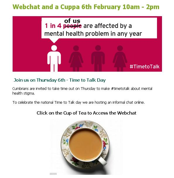 NHS cumbria tea chat