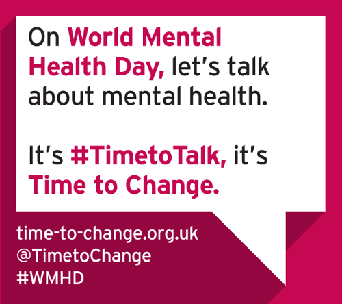 World Mental Health Day, let's talk about mental health