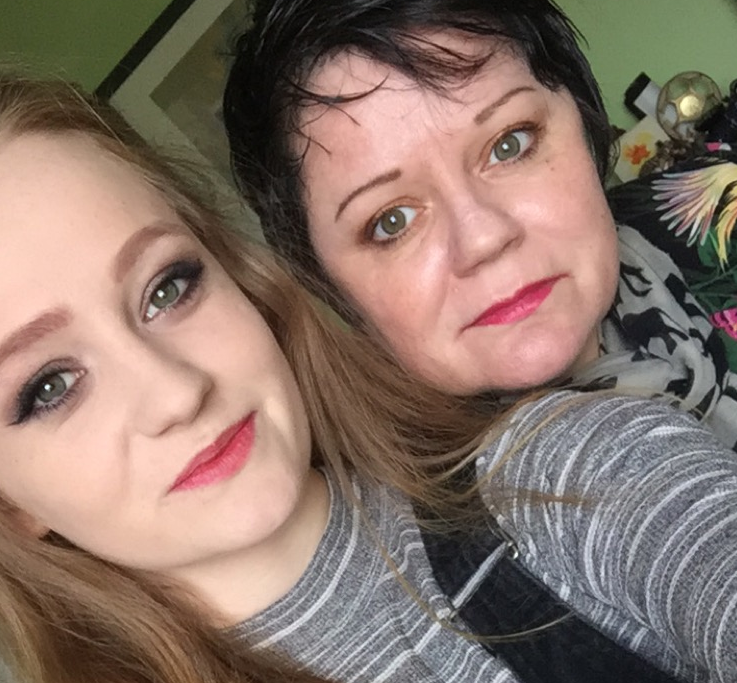 a picture of the blogger and her mum.