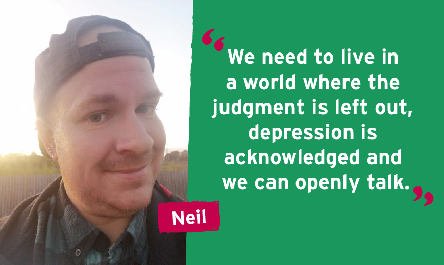 We need to live in a world where the judgment is left out, depression is acknowledged and we can openly talk.